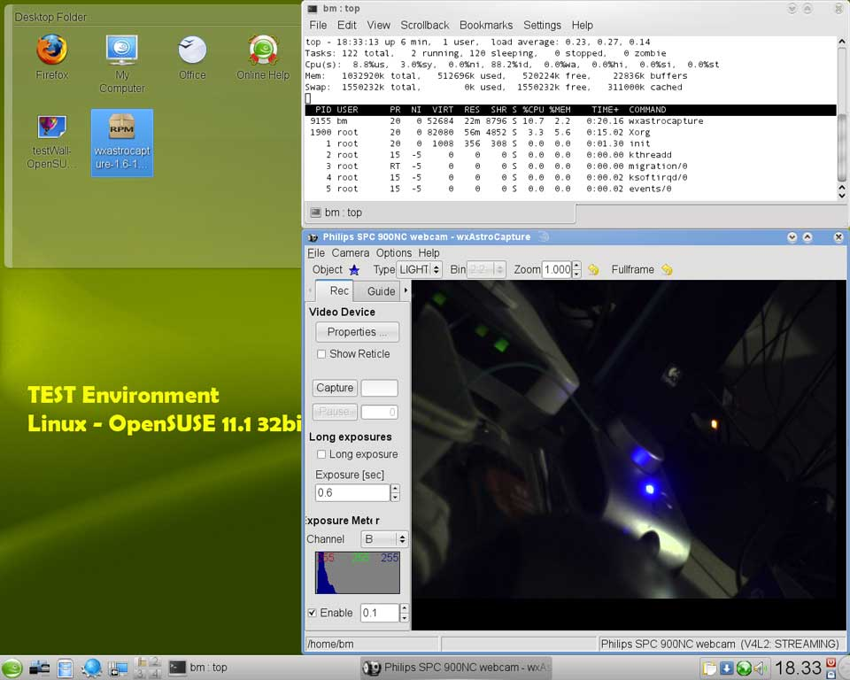Security webcam linux software